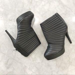 Torrid Black Booties Quilted Ribbed Stiletto Heel